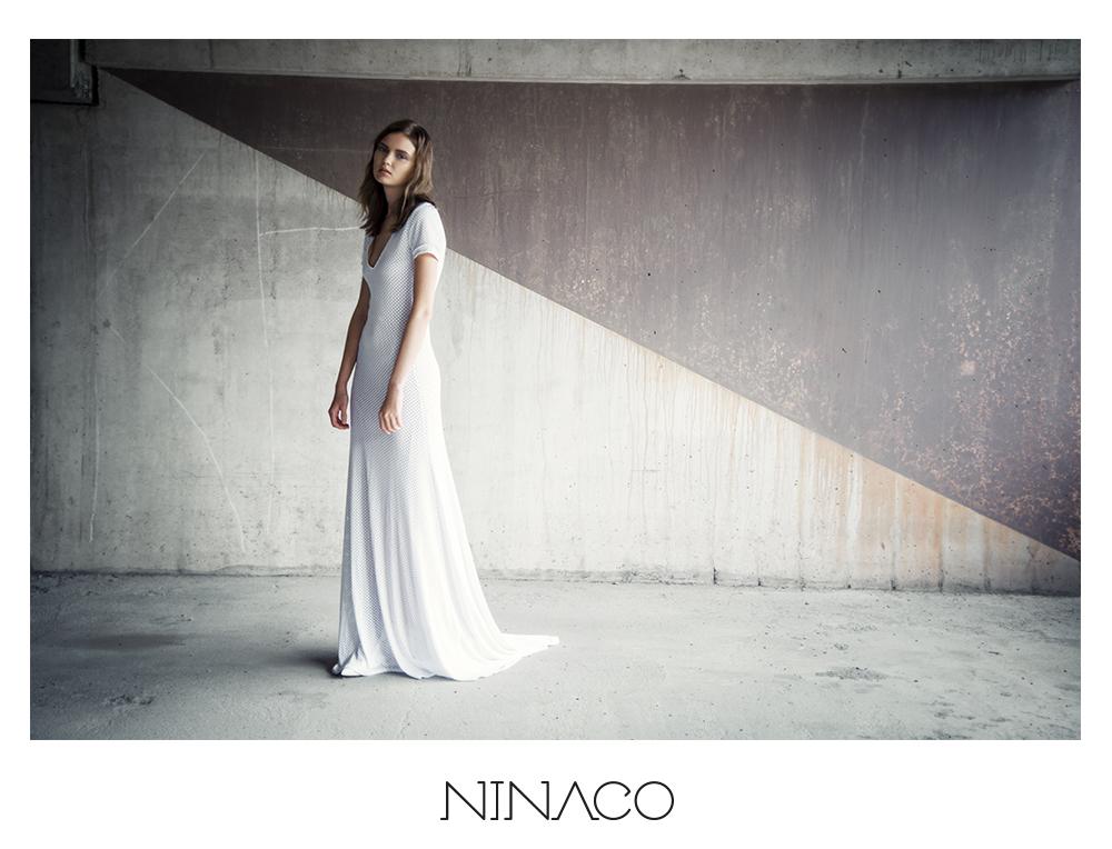 Ninaco Couture white sport de lux gown